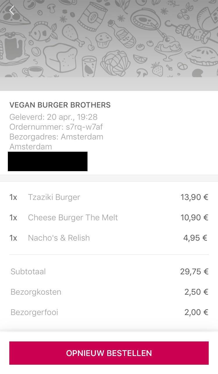 Vegan Burger Brothers via Foodora